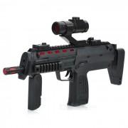 Toy Gun Submachine con luz infrarroja / Vibracion / luces de colores / Efecto de sonido (3 x AA)