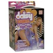Daisy Dare Bambola Gonfiabile a Pecorina con Capelli, Volto 3D ed Ovulo Vibrante