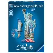 Puzzle contur - Statuia Libertatii, 1000 piese