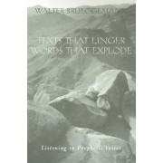 Texts That Linger, Words That Explode by Walter Brueggemann