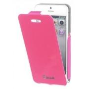 Husa flip Muvit Mucun0214 roz pentru telefon Apple iPhone 5/5S/SE