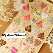 New novelty 3D heart style quality PVC sticker/DIY Multifunction label /mobile stickers /Scrapbooking School Office Stationery