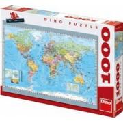 Harta politica a lumii 1000 piese - Puzzle