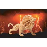 Puzzled, Inc. 3D Natural Wood Puzzle - Lion by Puzzled, Inc.