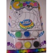 Paint Your Own Canvas Craft Kit ~ Beautiful Bee And Flowers (Includes 6 Paints, Paint Brush, Canvas With Wiggle Eyes)