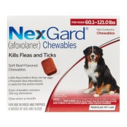 Nexgard Chewables for Extra Large Dogs 60.1-120 lbs (Red) 136mg 12 CHEWS