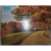 New England Country Farm in Fall Colors 500 piece puzzle by Golden