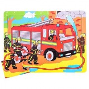 Bigjigs Toys BJ724 Tray Puzzle Fire Engine