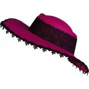 Palarie dama roz cu dantela neagra, Amscan 257567, 1 buc