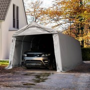 Intent24 3,3x6m garage, abri, PVC 550 g/m², H. 2,1m, gris