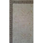 Decor perete/podea marmura alba cu bordura