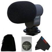 I3ePro BP-CMIC1 X-Series Mini Shotgun Condenser Microphone for Nikon COOLPIX P610 Digital Camera (Grey)