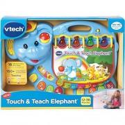 V Tech Durable Touch & Teach Elephant, Blue