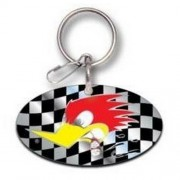 """Keychain - Mr Horsepower Checker Flag"""