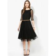 Party Wear Faux Georgette Black Kurti - 102017