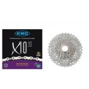 Shimano Deore XT CS-M771 Kaseta 11-32 & KMC X-10-93 łańcuch 10-b Kasety rowerowe i łancuchy