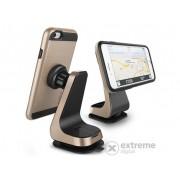 Suport auto pentru telefon Verus Magnetic Grab cu magneti, auriu