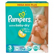 Scutece Active Baby 3 Mega Box Plus, 174 buc, Pampers