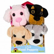 Puppy Friends Hand Puppets 4-pack Puppies