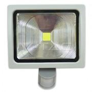 50W Projector c/sensor PREMIUM Branco Frio 3900Lm IP65 Cinza