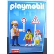 Playmobil 3256 Crossing Guard Traffic Guide with Children