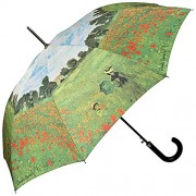 """VON LILIENFELD Paraguas automático con motivo Claude Monet: """"Campo de amapola"""""""