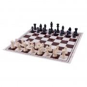 Tablă șah din plastic alb/maro, 35mm