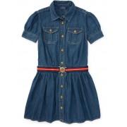 Ralph Lauren Denim Belted Shirtdress Dark Blue