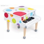 Fa zongora Confetti Grand Piano Janod valósághű hanggal 3-8 éves korosztálynak