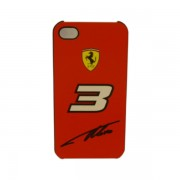 Funda Protector Ferrari Apple Iphone 4 / 4G No 3 / Roja