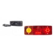 LED hátsó lámpa 3kamrás BAL 12/24V