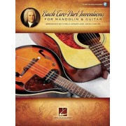 Bach Js Two-Part Inventions for Mandolin & Guitar Book/Audio Online by Carlo Aonzo