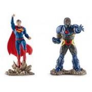 Set 2 Figurine Schleich Superman Vs Darkseid Scenery Pack