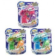 Blitz See Through Light-Up Bubble Blaster Bubble Making Gun With 5 FL OZ (147.85 Milliliters) of Premium Bubble Solution (Assorted Colors Actual Color May Vary)