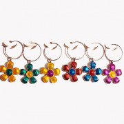 Wine Charms - Funky Flower