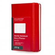 Moleskine 2014 Planner 12 Month Weekly Red Pocket