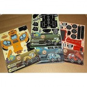 3D Puzzle Construction Trucks - Set of 4 Different Vehicles - Tractor Digger Dump Truck & Tow Truck by CD Brands Const