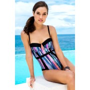 Womens Nancy Ganz Shaping Swimsuit - Tropical Print