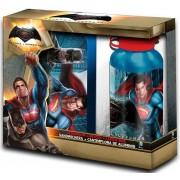 Batman vs. Superman uzsonnás doboz+alumínium kulacs szett