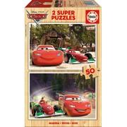 Educa - 16372 - Puzzle en Bois - Cars - 2X50 Pièces