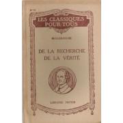 De La Recherche De La Verite, Livre Ii, Premiere Partie (I Et V), Deuxieme Et Troisieme Parties