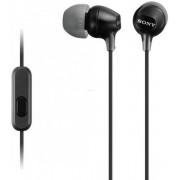 Casti cu microfon Sony MDR-EX15AP (Negre)