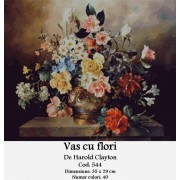Vas cu flori (kit goblen)