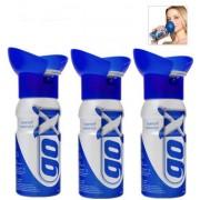 3 bouteilles d'Oxygène pur - GOX de l'Energie en canette qui se respire