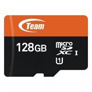 Team Group Micro SD scheda di memoria con Adattatore SD 128 GB Class 10 UHS-I Grade 1
