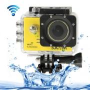 SJCAM SJ5000 Novatek Full HD 1080P 2.0 inch LCD Screen WiFi Sports Camcorder Camera with Waterproof Case 14.0 Mega CMOS Sensor 30m Waterproof(Yellow)