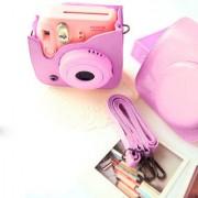 PU Leather Camera Bag Shoulder Strap for Fuji Fujifilm Instax Mini8 Pink