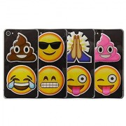 Emoji Puffy Sticker Set: Poo Smile Pray Tears of Joy and More: 8 Total Stickers