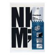 "Chartpak 01184 Press-On Vinyl May-sculas autoadhesivas-Negro-6 ""h-38/Pack"