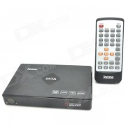 Portable 1080P Full HD Media Player with HDMI / VGA / AV / YPbPr / USB / SD - Black